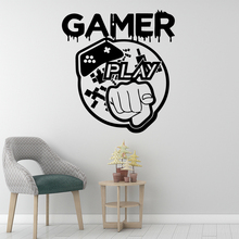 Romantic Gamer Wall Stickers Adhesive Wallpaper Vinyl Removable Room Decoration For Childrens Art Decals