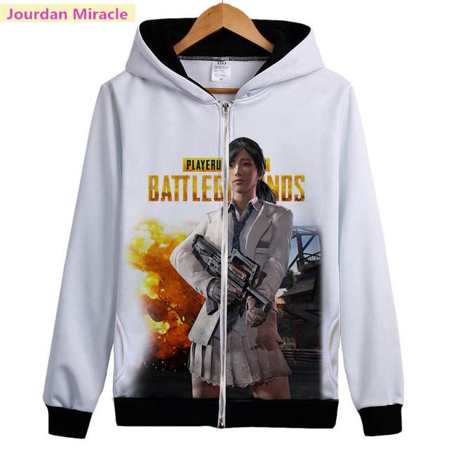 Battleground PUBG Casual Zipper Jacket Unisex Sweatershirt
