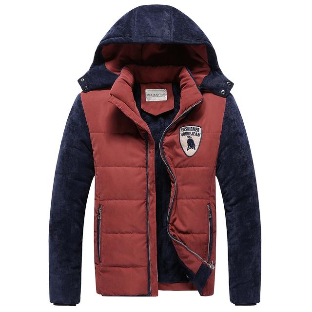 Tamanho S-5XL novo inverno 2017 homens boutique de moda de algodão quente grosso casacos jaquetas/casaco casuais Masculinos/Homens com capuz jaqueta de lazer
