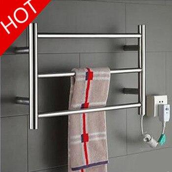 YEK-8022 Hot Sale Heated Towel Rail, Stainless Steel Electric Towel Racks Holder Bathroom Accessories Wall Mounted