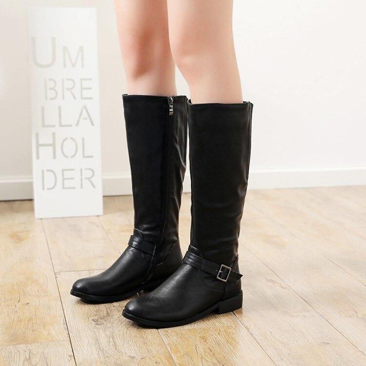 Femmes Brun Western Casual 5 D0266 Taille Yifsion Bottes Nouveau Rond Brown Bout Noir Chaussures 10 Black Hiver Nous Carrés Talons Bas 4 Mi mollet d0266 Yb6gf7y