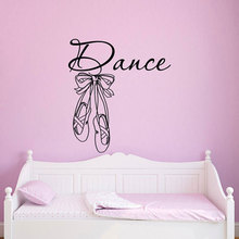 Dance Wall Decals Stickers Ballet Shoes Slippers Ballerina Art Home Decor Girls Bedroom Nursery Kids Room Removable Mural DA15