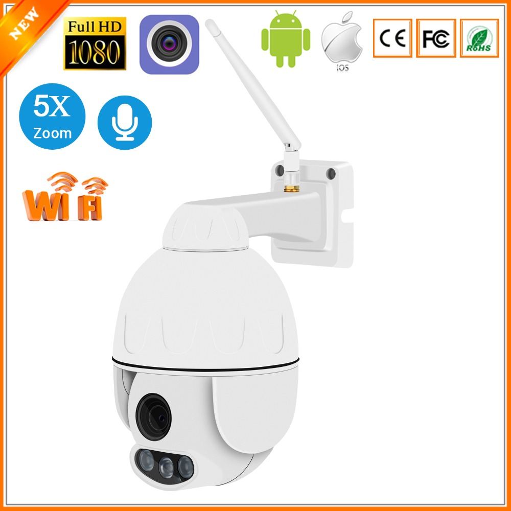 BESDER 1080P 960P 5X Auto Zoom PTZ IP Camera WiFi Mini Speed Dome CCTV Security Outdoor Camera IP Audio Waterproof Night Vision-in Surveillance Cameras from Security & Protection    1