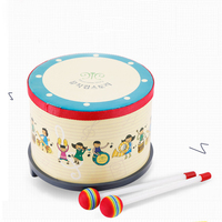 Kids Musical Instrument Hand Drum For Children Baby Beat Wooden Activity Educational Sound Toys Birthday Gifts