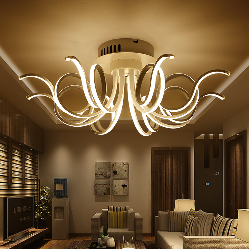 led Ceiling lights led kitchen lamps for living room bedroom lamp las luces del techo Aluminum LED Ceiling Light fixtures light noosion modern led ceiling lamp for bedroom room black and white color with crystal plafon techo iluminacion lustre de plafond