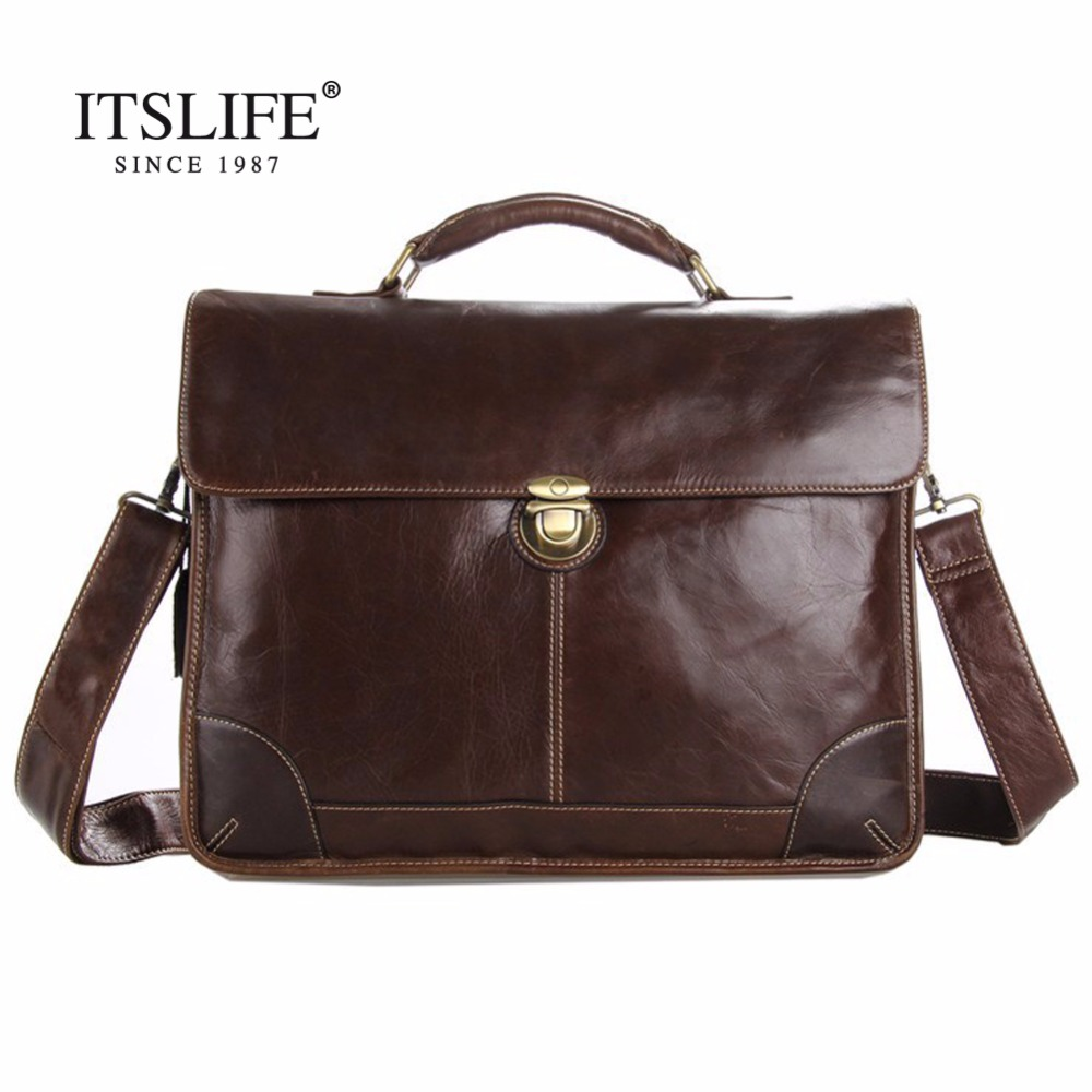 цены Free shipping Hot Sale 100% Genuine Leather Men's Portfolio Business Bag Briefcase Laptop Bag Messenger Bag Handbag #7091Q