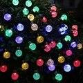 20ft 30 Cristal LED Bola Solar Powered lederTEK Marca Más Populares Globe Luces de Hadas para Jardín Al Aire Libre Decoración De La Navidad
