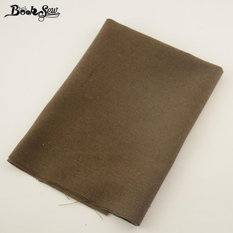 Booksew marrón oscuro bolsa de material de costura de la tela de lino de algodón