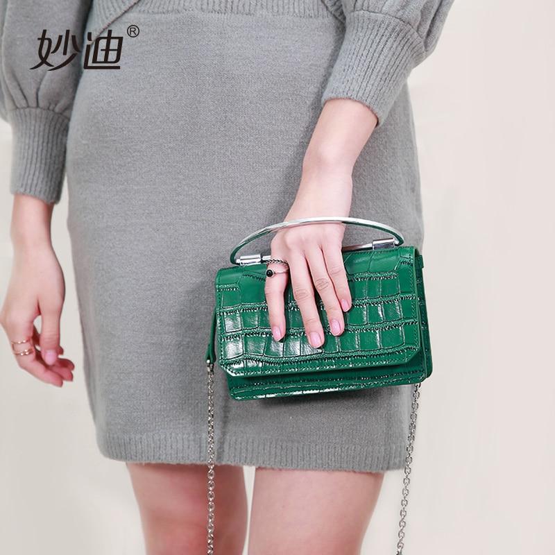 ФОТО A20104 2017 New Fashion Women Solid crocodile Genuine Leather Handbag hotsale Chain Shoulder Lady Messenger Bag Crossbody Bags