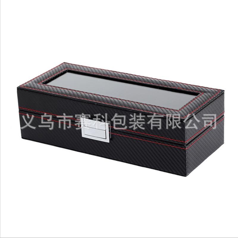 Box 5 Grid Black Watch Case urboks display læderur Case Holder - Tilbehør til ure - Foto 2