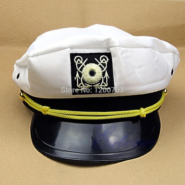 1 PC Keren Tampan Cap Kostum Laut Yacht Kapten Skipper Sailor Boat Umum Topi e64d700aca