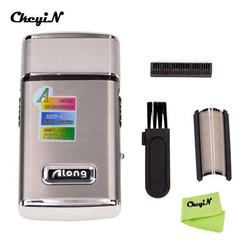 Recarregável barbeador elétrico men navalha portátil mini máquina de barbear elétrica aparador bigode com lâmina substituível face care