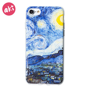 iPhone 6s Case Starry Night Smooth Premium Durable Hard PC Funny 3D