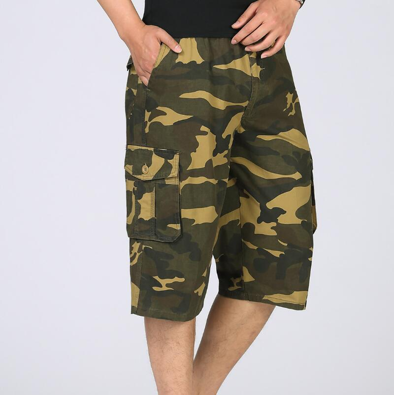 XL-5XL Plus Size Camouflage Camo Cargo Shorts Men 2018 New Mens Casual Male Loose Work Man Military Short Pants