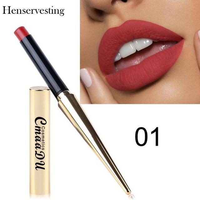 8 צבעים מט שפתון סקסי Nonstick כוס לאורך זמן עמיד למים איפור שפתון משיי מרקם עמיד איפור יופי קוסמטי