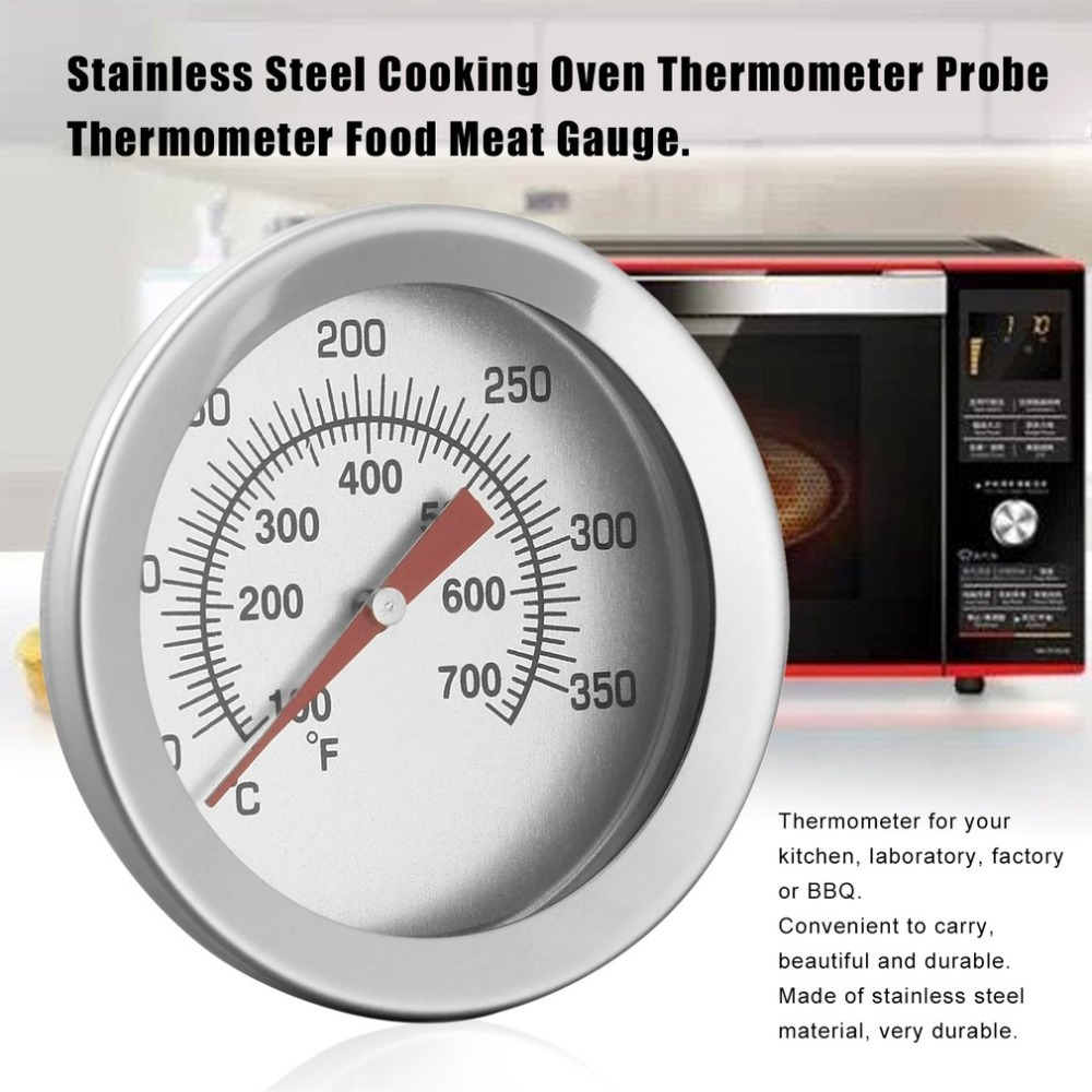 Stainless Steel Household Kitchen Cooking Oven Thermometer Probe Food Thermometer Meat Gauge Easy To Read Wholesales