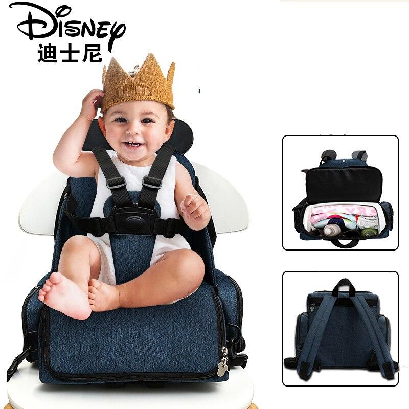 Disney обеденный стул мешок многоцелевой пеленки сумка Новинка 2018 года Stlye непромокаемые мать сумки рюкзак для подгузников путешествия Мумия ...