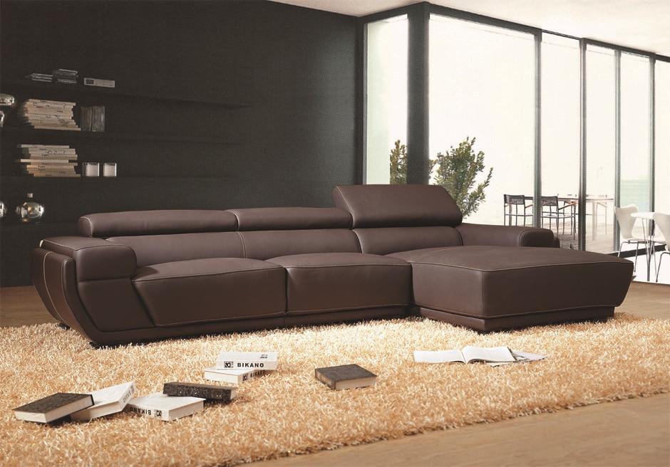 In pelle marrone divano chesterfield, divano di lusso set con il ...