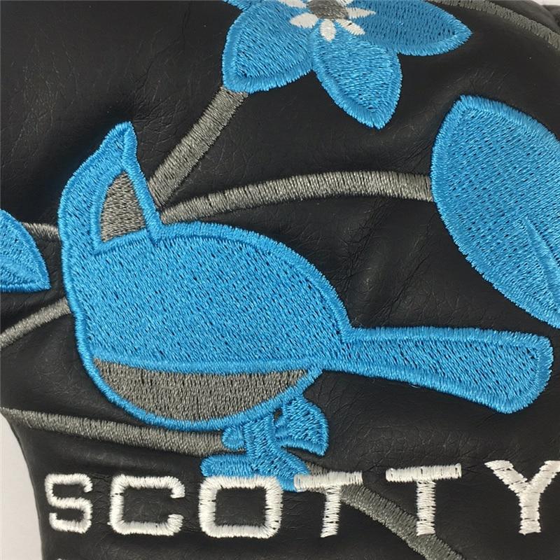 Купить с кэшбэком PU Golf Putter Cover Four-leaf Clover Embroidery Headcover for Golf Activity Embroidery  Golf Blade Putter Head  Protector