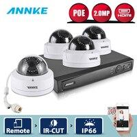 ANNKE 1080 P POE безопасности Камера Системы 4CH 6MP безопасности NVR с 4 шт. 1080 P купольных всепогодный Камера s интеллектуального поиска 3D WDR