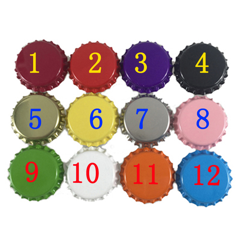 20Pcs 32*32MM Colored Metal Crown Bottle Caps Bar Counter House Beauty Jewelry DIY 1 Inside 12 Color For Selection