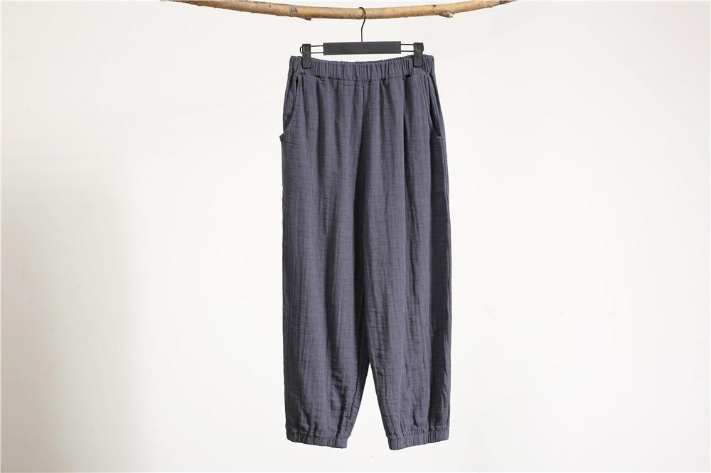 Women New Palazzo Hip Pants Linen Hop Crotch match Pantalon 2019 Loose All Drop Fashion Haren zEqxnwdO