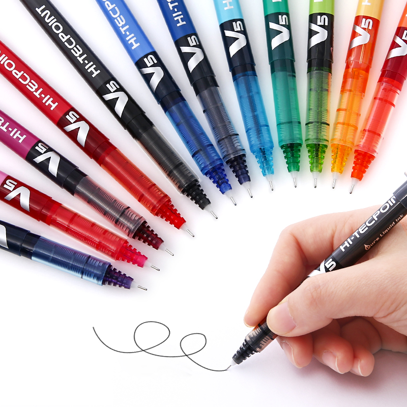 Andstal 12 Colors Roller Pen Pilot Rollerball Precise V5 V7 Fine Point Needle Tip Patented Precision Point Technology Smooth