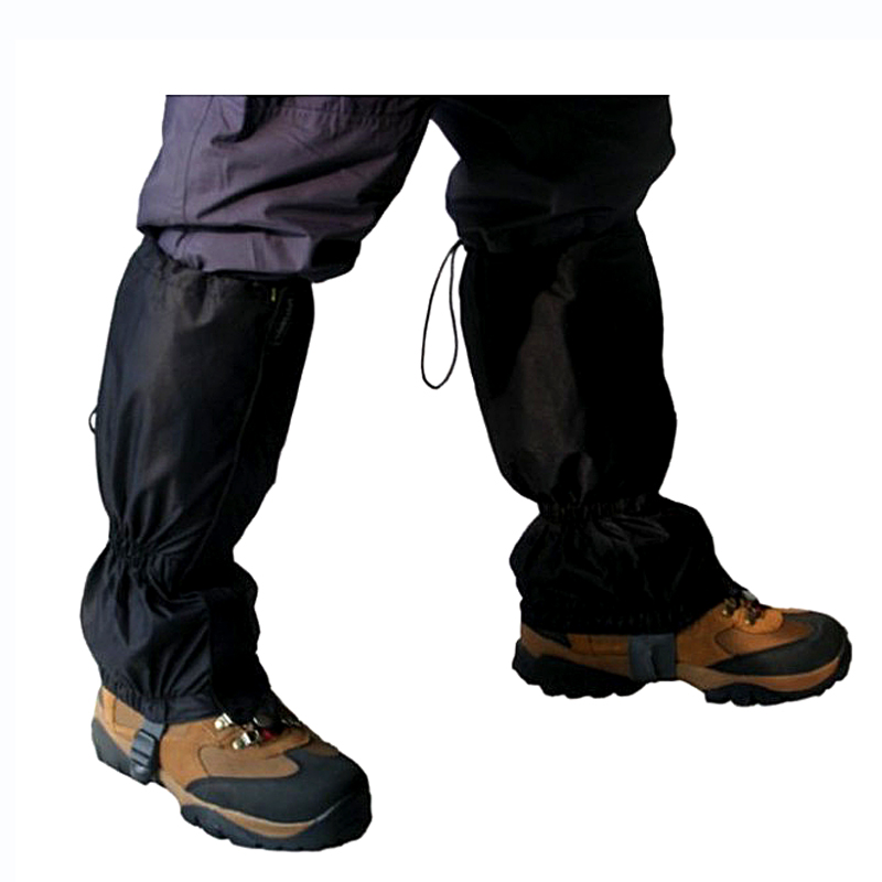 1 Pair Waterproof Snow Gaiters Ripstop Outdoor Ski Gaiters Hiking Warm Gaiters