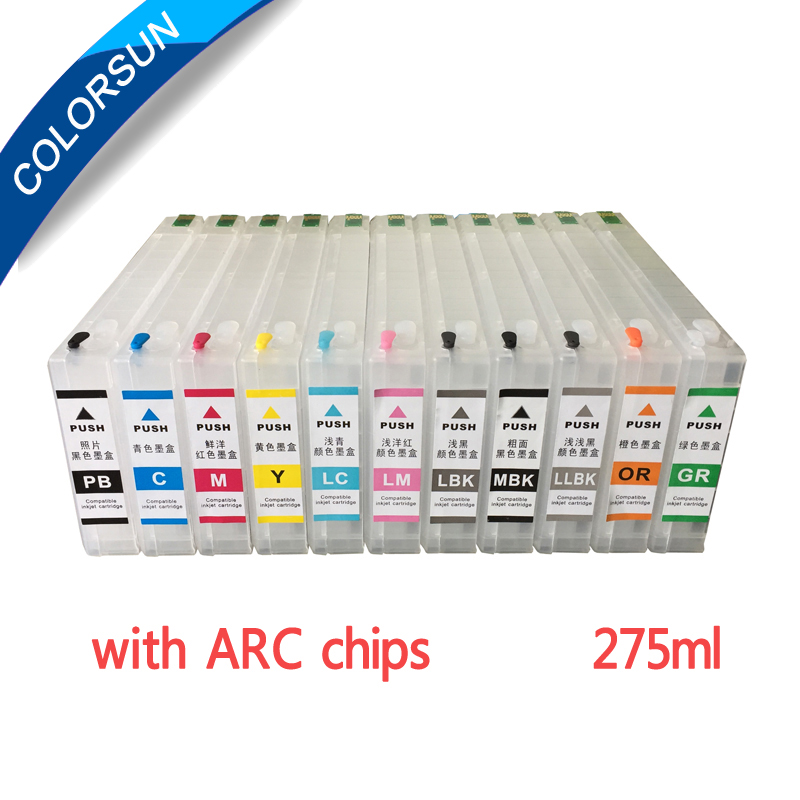 New Compatible for Epson T6531 T6539 T653A T653B Refillable Ink Cartridge For Epson Stylus Pro 4900