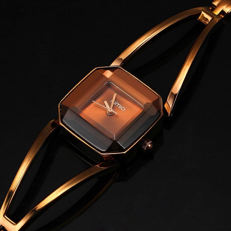 New Arrival KIMIO Luxury Women s Quartz Watches Waterproof Stainless Steel Hollow Square Bracelet Ladies Watches