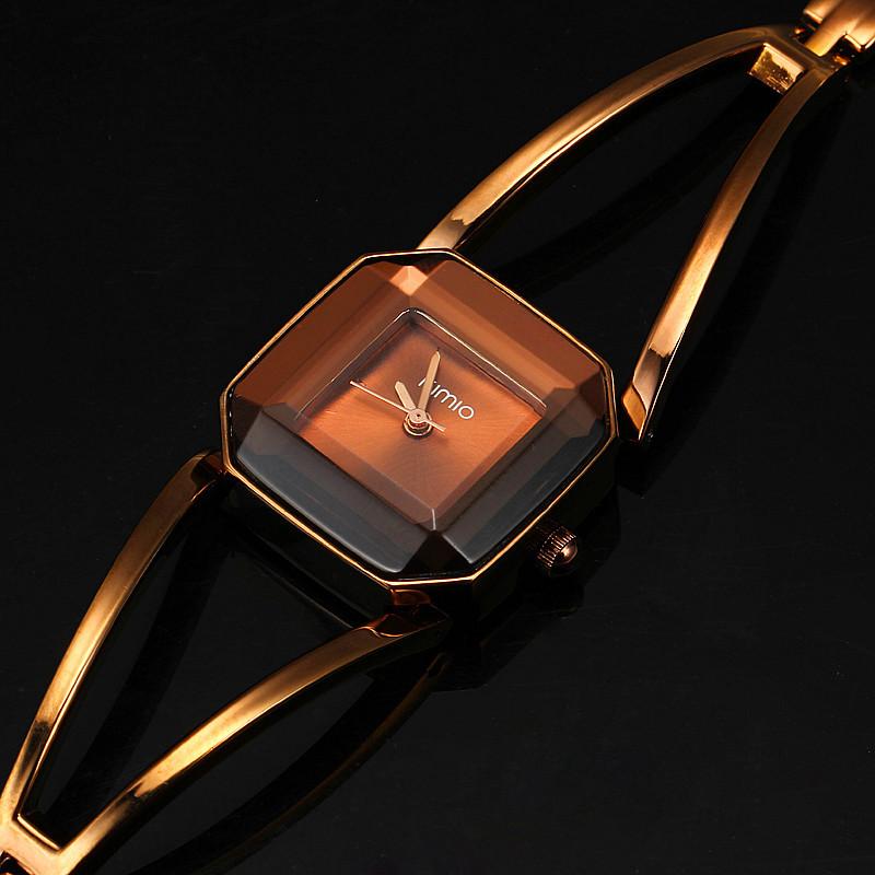 Prix pour Nouvelle Arrivée KIMIO De Luxe Femmes de Montres À Quartz Étanche En Acier Inoxydable Creux Carré Bracelet Dames Montres montre femme