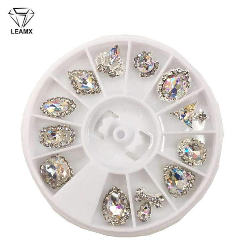 LEMAX Mixed/Box Crystal Strass Nail Art Decorations Rhinestones Alloy 3D Gems Decor Girls Glitter Jewelry Accessories L481