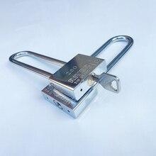 High Quality Beam Stainless steel Long Lock bike Padlock Anti-theft Door Cabinet Drawer Gate Lock outdoor Stainless steel Lock