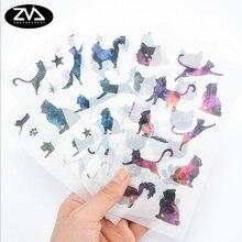 6pcs/lot Kawaii Star cat Diary Stickers DIY Scrapbooking Mini Stationery Sticker child toy Office School Supplies