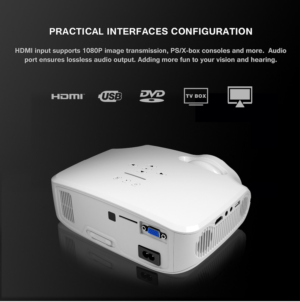 CRENOVA Newest Android Projector 3200 Lumens Android 7.1.2 OS Home Theater Movie Projector For Full HD 1080p Wifi Bluetooth 12