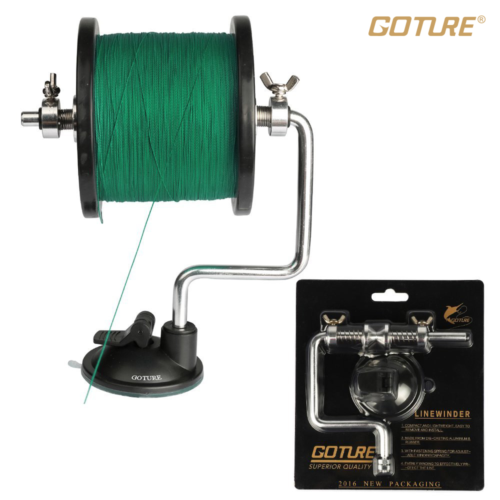 Goture fishing line winder detachable and portable reel for Fishing reel line winder