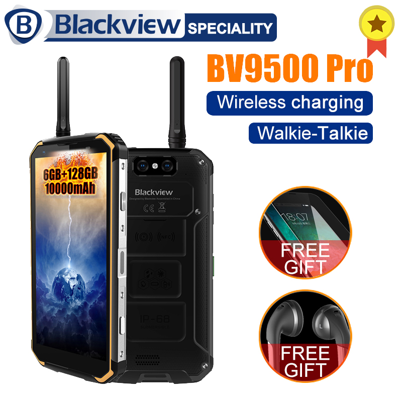 Blackview BV9500 pro 10000 mah IP68 Étanche 5.7 18:9 Smartphone 6 gb 128 gb MT6763T Android 8.1 Talkie- walkie sans fil de charge
