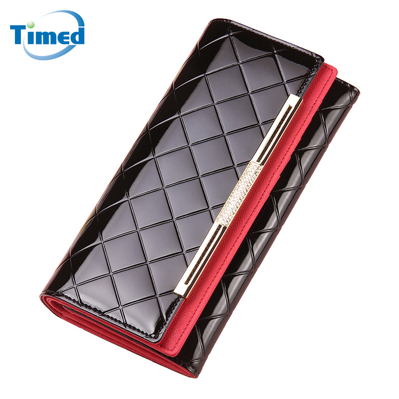 New 2018 Women Long Design Genuine Leather Clutch Wallet Europe Style Fashion Large Capacity Lady Wallets Plaid Card Holder yuanyu 2018 new hot free shipping real thai crocodile women clutches dinner long women wallet large capacity women bag