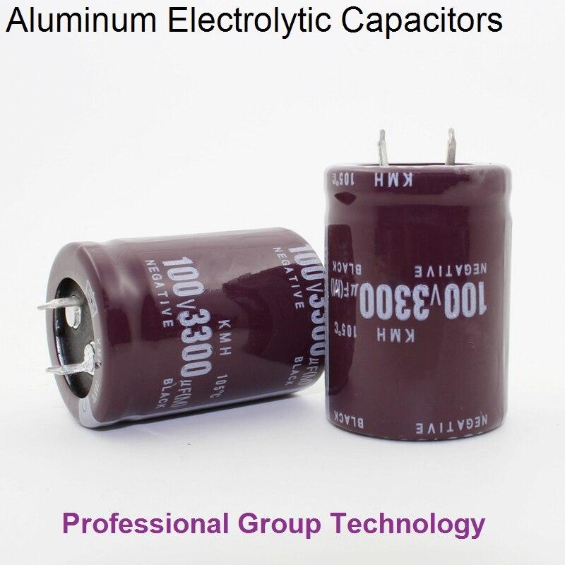 6pcs EB222 Good Quality 100v3300uf Radial DIP Aluminum Electrolytic Capacitors 100v 3300uf Tolerance 20% Size 30x40MM 20%