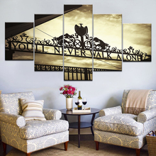 Canvas HD Printed Posters Home Decor Framework 5 Pieces You Will Never Walk Alone Paintings For Living Room Wall Art Pictures