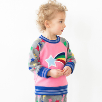 Baby Boys Sweatshirt Girls Christmas Sweater Tops 2017 Winter Warm Kids T Shirts Rainbow Star Pattern