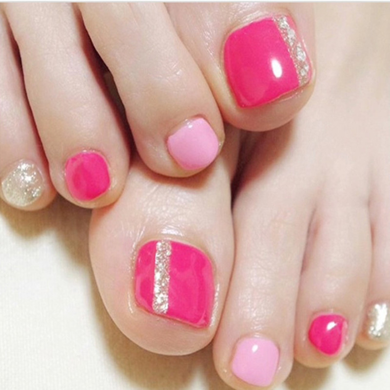Gel Nail Polish Toenails Nails Artificial Acrylic Nails