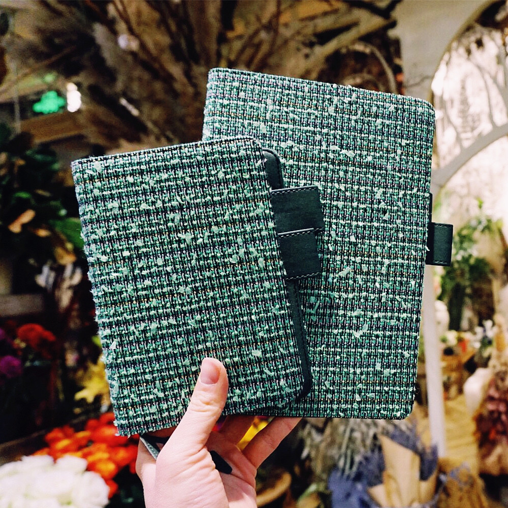 """""""Green Lady"""" Beautiful Journal Replaceable Lined Papers Notebook Travel Study Diary Girlfriend Stationery Gift"""