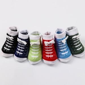 Image 4 - 6 Pairs Baby Socken Lot Neugeborenen Socken Baumwolle Baby Mädchen Jungen Socken Set Nette Kinder Kleinkind Socken Schuhe Zubehör Bunte sommer