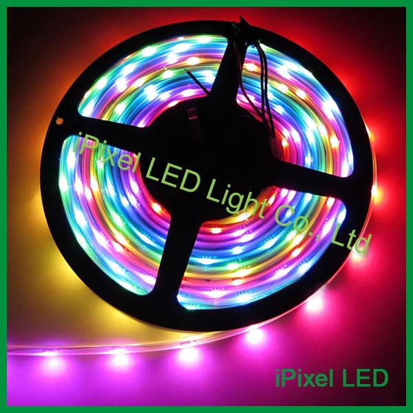 WS2812B pixel led strip light;144leds/m;white PCB;smd 5050 rgb flexible led tape light