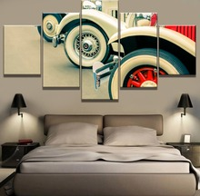 5 Piece Canvas Art Classic Cars Lineup Cuadros Decoracion Paintings on Wall for Home Decorations Decor Framework