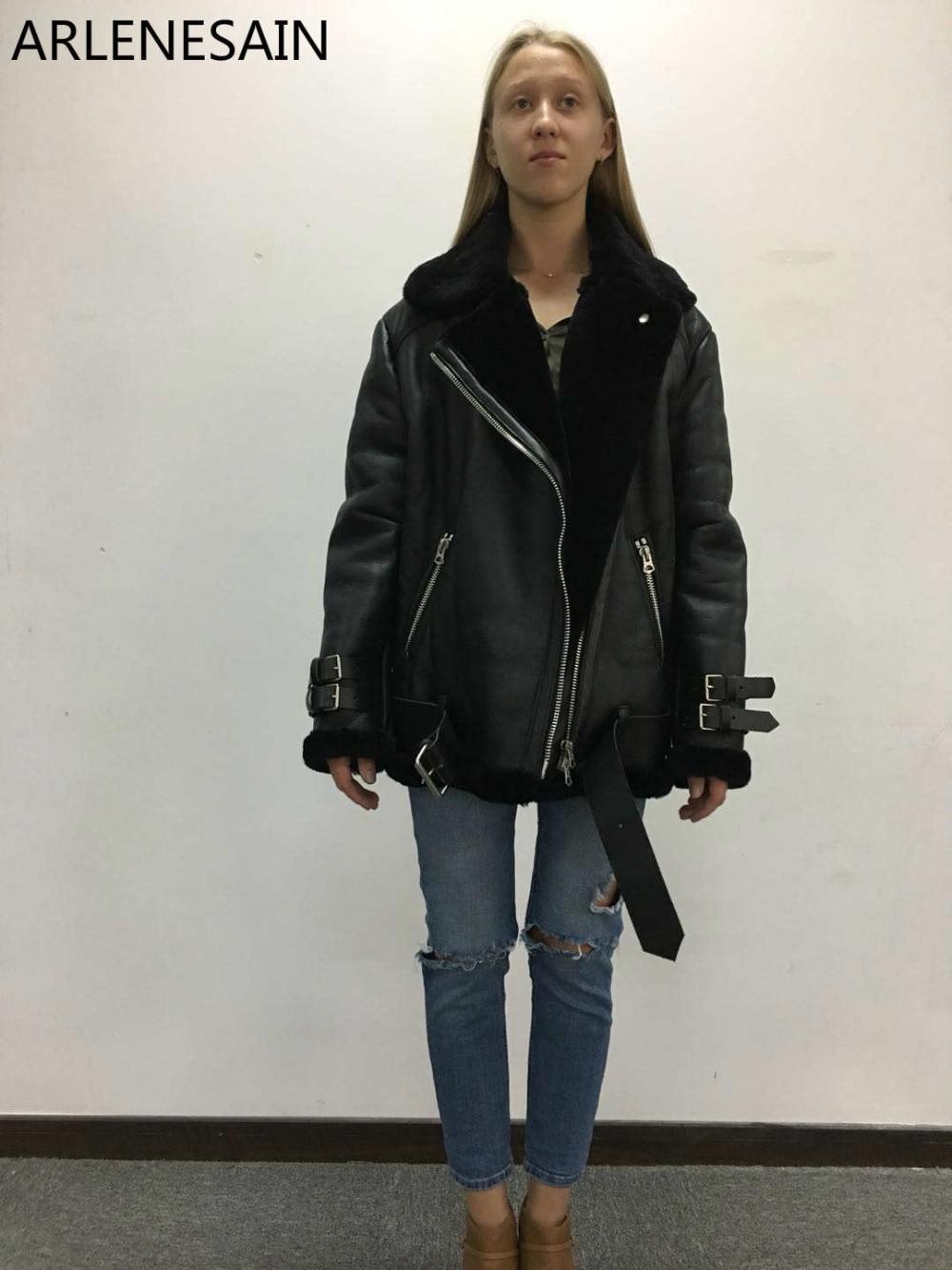 Nouveau Femmes Noir Mouton En Personnalisé Mode De Veste Peau Importé 2018 Arlenesain Fourrure qEHvxCwE
