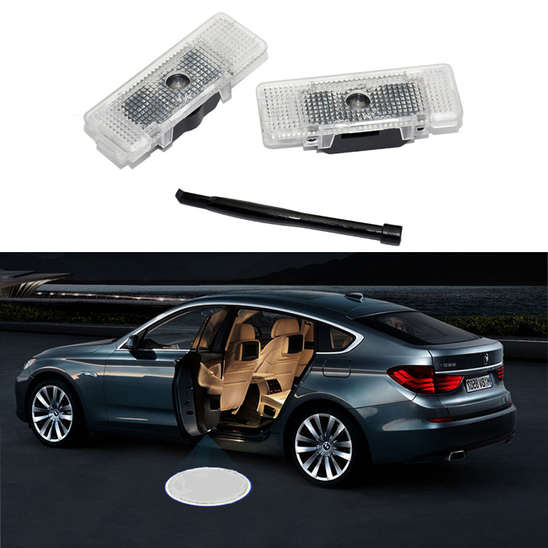 2pcs Car LED Door Logo Light liaht for <font><b>bmw</b></font> E53 E39 E52 528i <font><b>Line</b></font> Ghost <font><b>Shadow</b></font> Welcome Lamp image