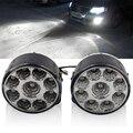 2 Pcs 9 LED Car styling Cabeça Frente Luz Da Cauda Rodada Off-Road Lâmpadas Luz de Estacionamento Luzes de Nevoeiro DRL Condução luzes Diurnas
