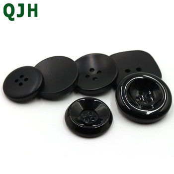 100PCS/wholesale 4 Holes Resin Black Men Coat Button Trench Clothing Overcoat Buttons DIY Resin Sewi